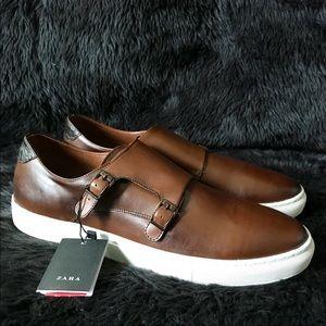 ZARA MEN Brown Monk Style Sneakers